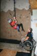Adaptive rock climbing instructor training at Disabled Sport USA's Adapt2Achieve conference.